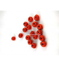 COTTON THREADED BEADS RED ONE PIECE
